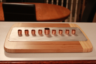 DIY Menorah Front View